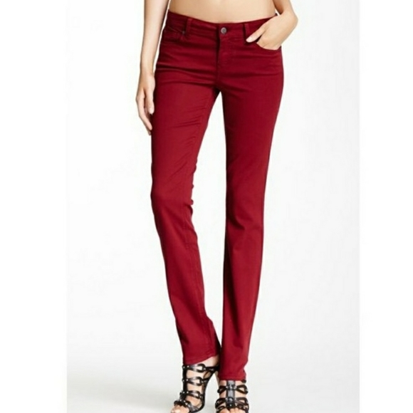 Level 99 Red Skinny Straight Leg Jeans size 30